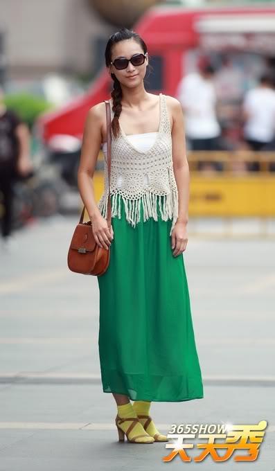 Remedy_Rouge_Chinese_Streetstyle_Green_Maxi_Dress_Yellow_Socks_Boho