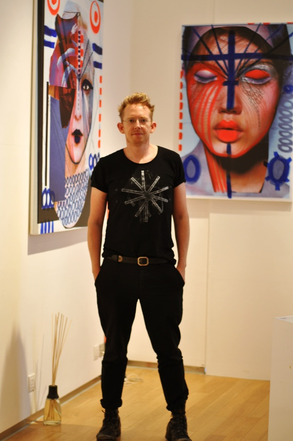 "Diederik Verbakel and his artwork of ""Women"" exhibition for Pedder Red AW2013/14 collection."